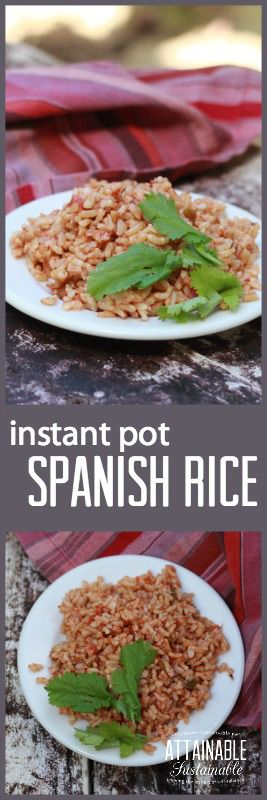 Try this easy Spanish rice recipe as a side for tacos, burritos, or your favorite Mexican meal. It's easy in the Instant Pot!