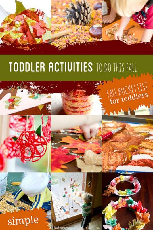 The 22 Simplest Fall Activities for Toddlers via @handsonaswegrow