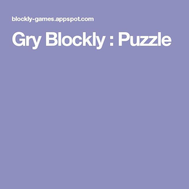 Gry Blockly : Puzzle