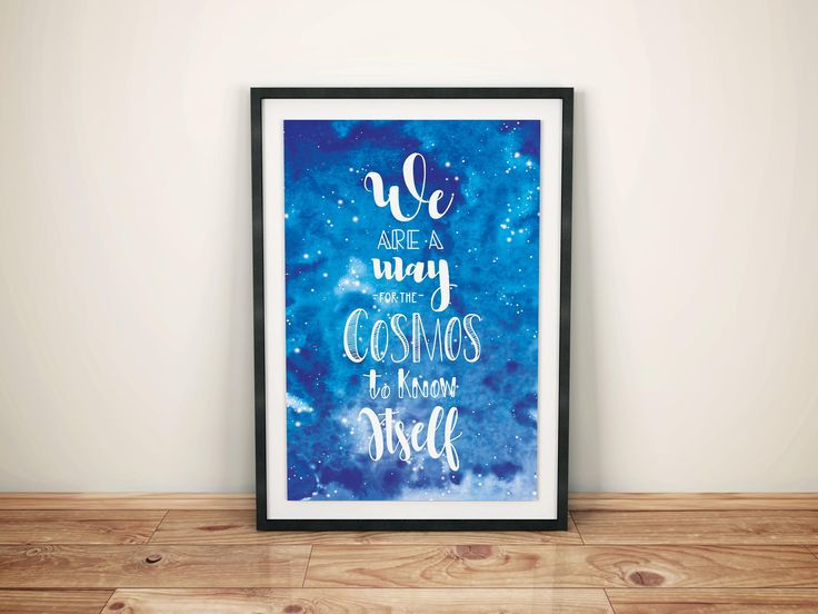"Printable art ""Cosmos"" Hand lettered calligraphy di ElipadDesign su Etsy"