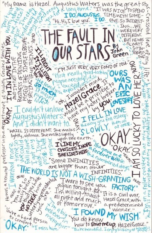 The Fault in our stars quotes collage. This is amazing!!! Thank you whoever made this!!!