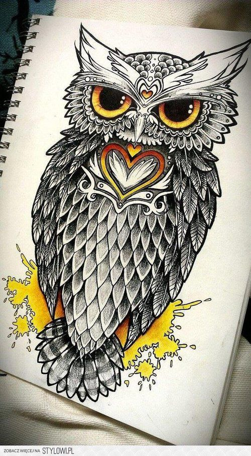 cool owl designs to draw