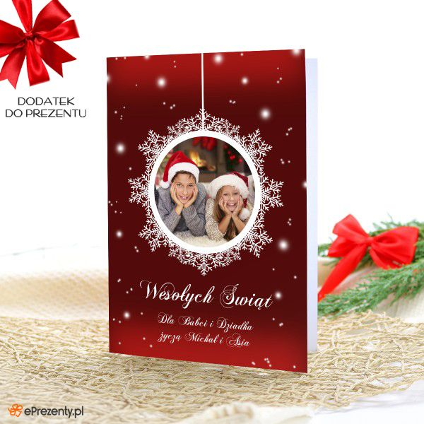 Kartka z okazji Bożego Narodzenia + zdjęcie ZOBACZ >> https://eprezenty.pl/source/493/113898/