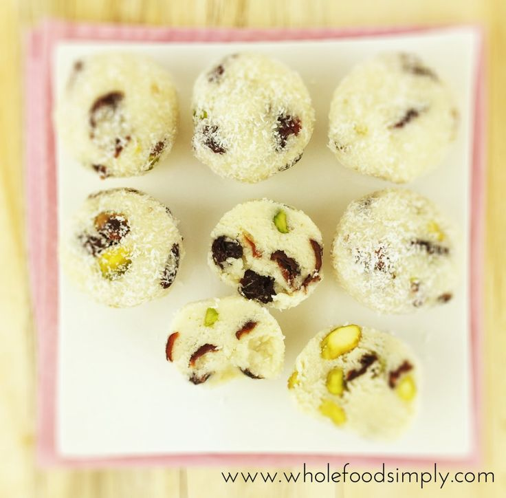 Pistachio and Cranberry balls