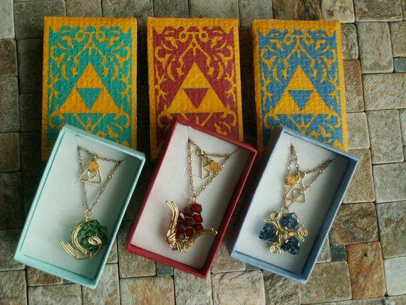 The Legend of Zelda Zora Sapphire long necklace by theLostChild