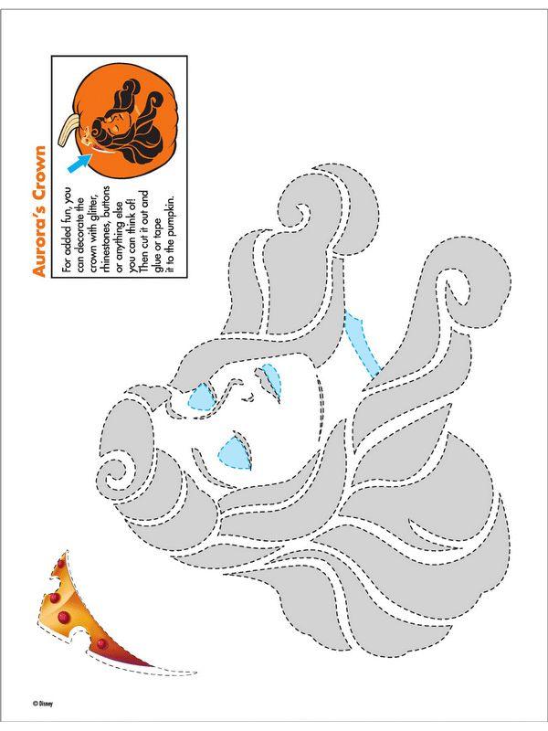 disney-princess-pumpkin-carving-patterns-02.png 600×800 pixels   sleeping beauty disney aurora pumpkin stencil carving