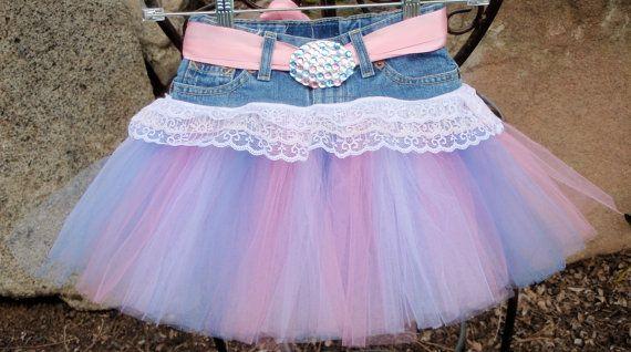 Denim tutu skirt