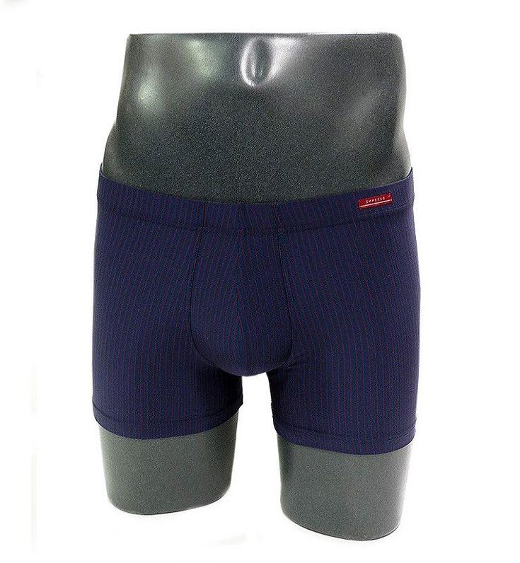 OFERTAS. ENVIO URGENTE. Boxer para hombre de RAYA DIPLOMÁTICA en color azul de Impetus Underwear. Excepcional tejido aún más suave y con cinturilla forrada.