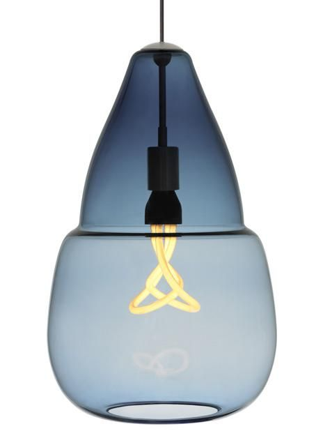 Shop For The Tech Lighting Antique Bronze Caspian Grande 1 Light  Fluorescent Line Voltage Hand Blown Steel Blue Glass Pendant And Save.