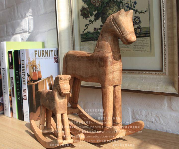 ёурнала zakka handmade скульптура троянских древесина лошадка украшение винтаж троянский конь обои для