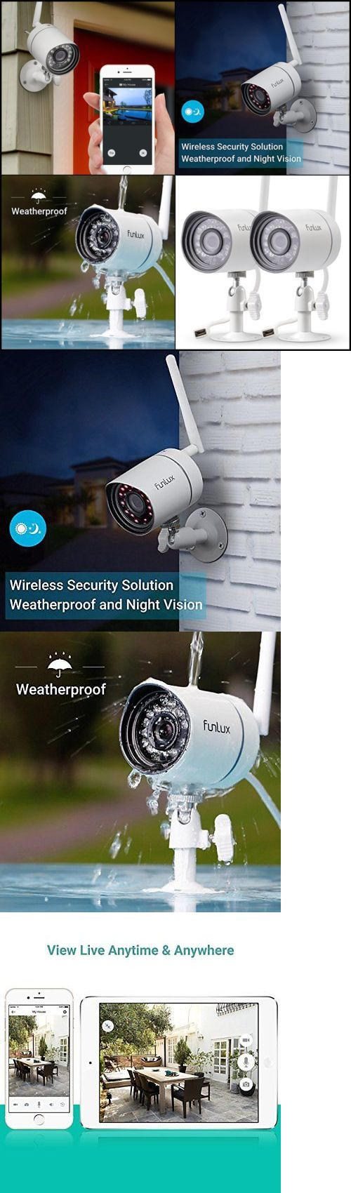 Security Cameras: 2 Pack Wireless Security Camera Outdoor System 720P Hd Video Night Vision Home -> BUY IT NOW ONLY: $75.95 on eBay!