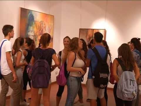 MARIO RAVIELE OPERE studenti in visita