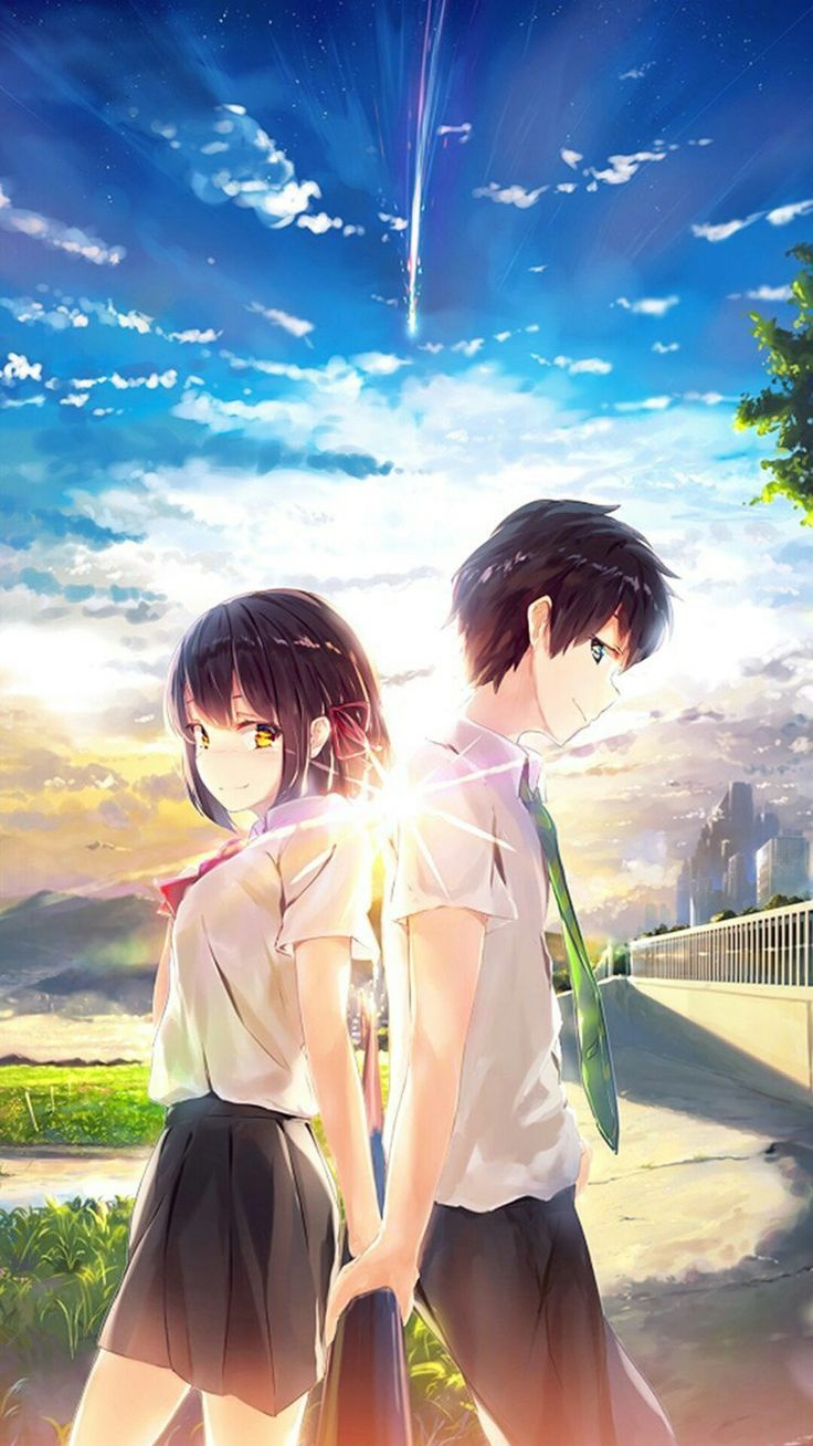 Defenietly recommend this to watch.So good.#fanart #movie #kiminonawa