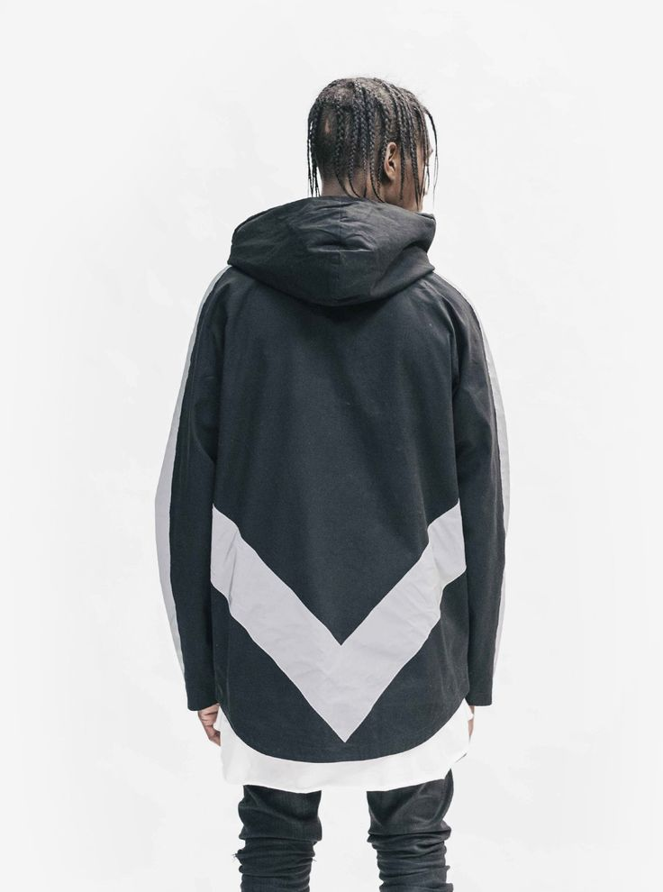 """Profound Aesthetic 3M Reflective Stripe Multi-Cargo Jacket in Black  """"On the Streets I Ran"""" Fall 2015 Collection http://profoundco.com"""