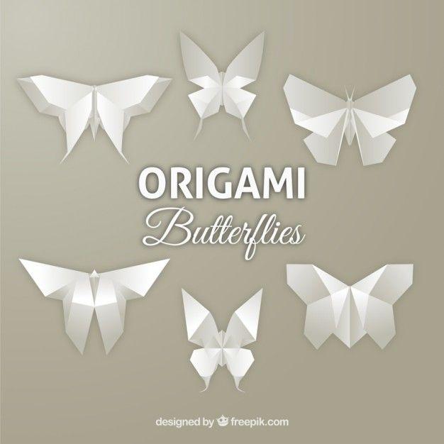 Mariposas de origami Vector Gratis