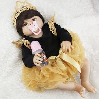 NPK 23inch Full Silicone Reborn Baby Dolls Princess Adorable Kids Brinquedos Toy The Best gift for girls&daughter Free Shipping (32777265379)  SEE MORE  #SuperDeals