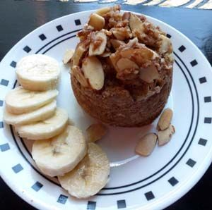 Oats Banana Cocoa Peanut Butter Mug Cake