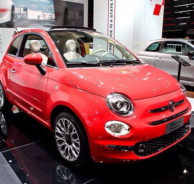 Love New Shape Fiat 500 Glam Coral