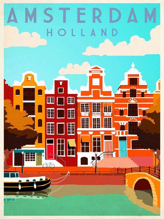 Voyage à Amsterdam Hollande  Pays-Bas par WillowSophiaAntiques