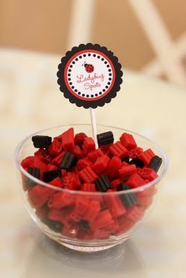 """lady bug """"bites"""", I will have a ladybug themed party one day! Maybe when I have a little girl!"""