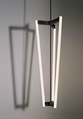 Tube Chandelier - satin brass | lighting . Beleuchtung . luminaires | Design: Michael Anastassiades |