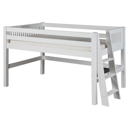 Camaflexi Mission Headboard Low Loft Bed - Bunk Beds & Loft Beds at Hayneedle