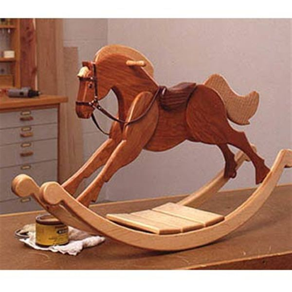 Playroom Palomino Rocking Horse Woodworking Plan                              …