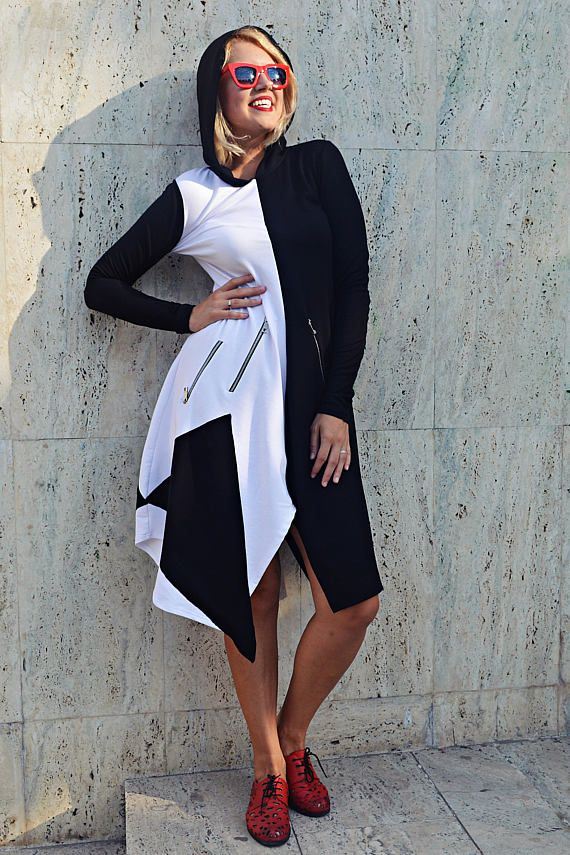 Black and White Maxi Dress Black and White Hooded Dress https://www.etsy.com/listing/535638666/black-and-white-maxi-dress-black-and?utm_campaign=crowdfire&utm_content=crowdfire&utm_medium=social&utm_source=pinterest