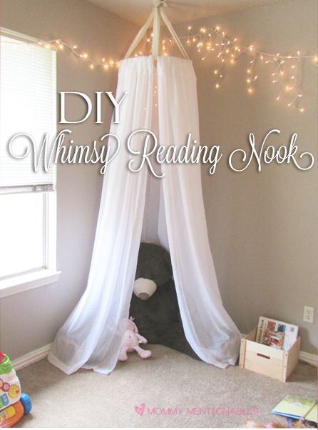 Whimsy reading nook for kids - 17 Creative DIY Projects for Unique Decorations for Your Home