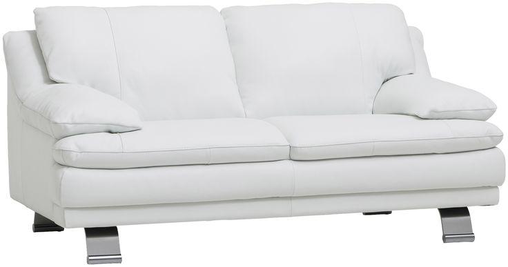 Aidolla nahalla verhoiltu näyttävä sohva järkihintaan. Myös taustat aitoa nahkaa. Tyylikäs rosterijalka.   Corona-sarjan värivaihtoehdot ovat musta ja valkoinen.