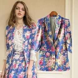 Online Shop Factory outlets in Europe and America women's small and beautiful new fall 2014 women's casual suit Sleeve Printed Aliexpress Mobile