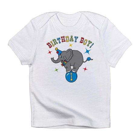 Circus Elephant 1st Birthday Boy Infant T-Shirt on CafePress.com