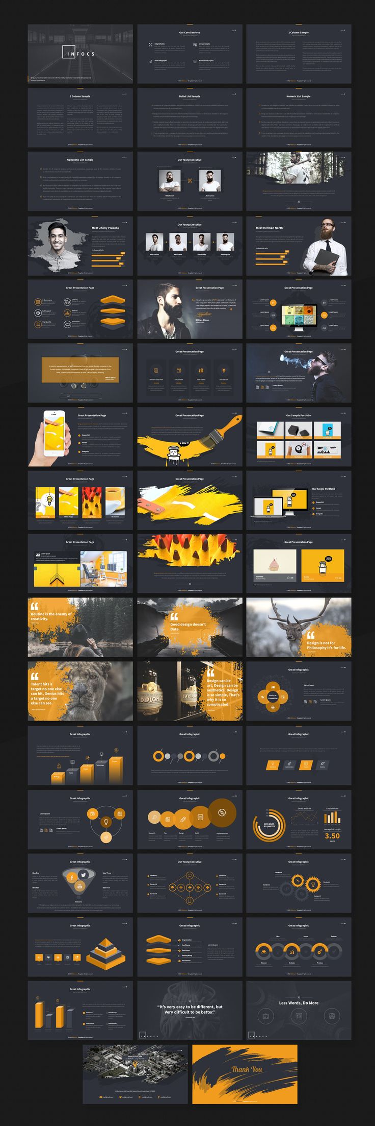 Infocs - Multipurpose Presentation by SlideMore on @creativemarket
