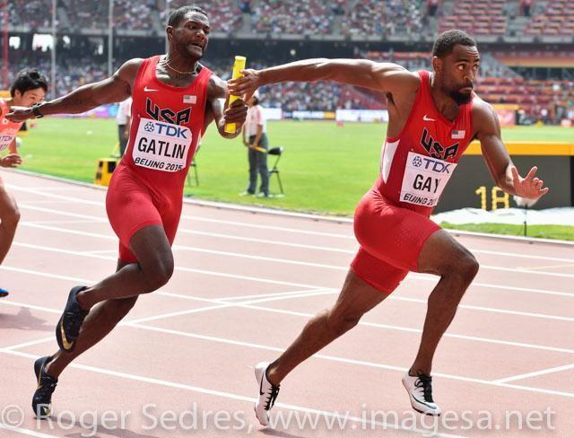 Great sprinters, @justingatlin & @TysonLGay in 4x100m relays. #beijing2015 @usatf @NikonUSA @Nikon_SA @LexarMemory