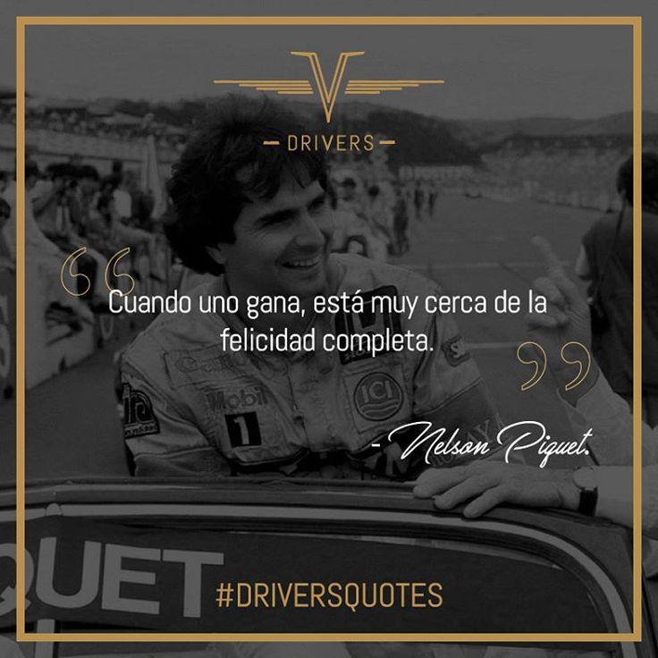 #NelsonPiquet ahora en nuestras #DriversQuotes. Uno de los pilotos más exitosos en la historia de la Fórmula 1, al haber obtenido tres campeonatos en 1981, 1983 y 1987.    #Drivers #DriversChile #Cars #Quotes #Fórmula1 #F1 #CarLovers #Miniaturas #AutosAEscala #Herramientas #Limpieza & #Detailing #Santiago #Chile