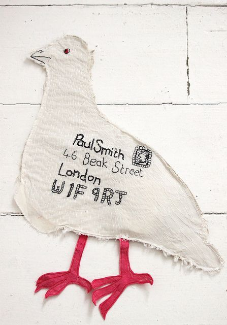 This is Pigeon post by Scottish artist Hazel Terry for Paul Smith. Make me smile.