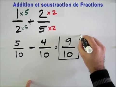 Comment additionner et soustraire des fractions facilement ? - YouTube