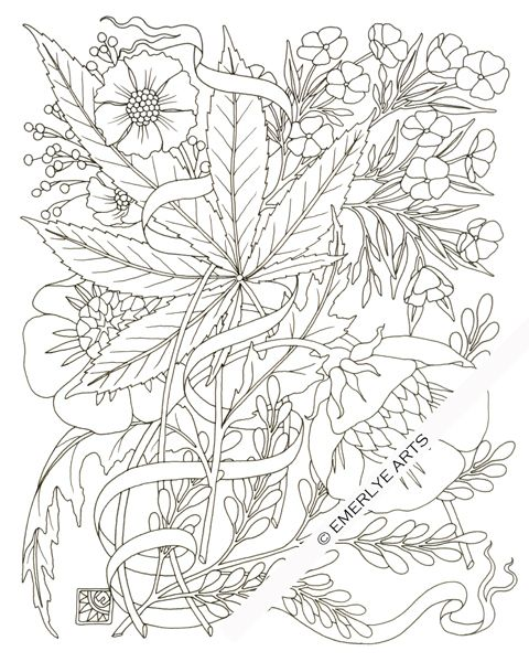 Cynthia Emerlye, Vermont artist and life coach: Hemp & Phlox - an adult…