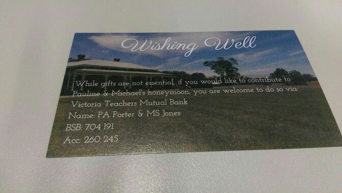 Wishing well card