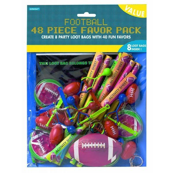 Championship Football Favor Pack 48ct
