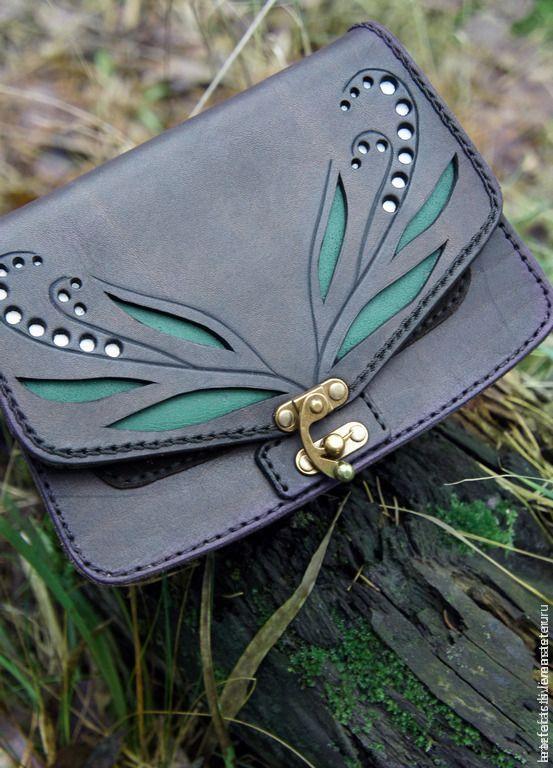 Leather Croccbody Bag | Сумка Ландыши – купить в интернет-магазине на Ярмарке Мастеров с доставкой
