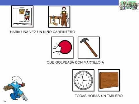 """CANCIONES - """"Los oficios"""".  Canción de Teresa Rabal sobre los oficios, adaptada con pictogramas de ARASAAC."""