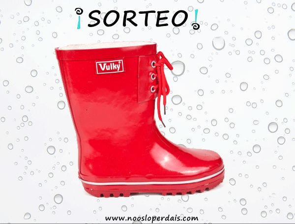 Participa en el sorteo de estas botas de agua de Vulky desde aqui: http://noosloperdais.com/2015/03/18/sorteo-botas-de-agua-nin-de-vulky/