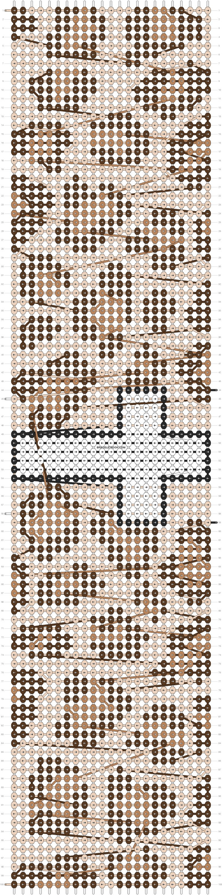 Leopard Print Friendship Bracelet Pattern Number 11282 - For more patterns and tutorials visit our web or the app!