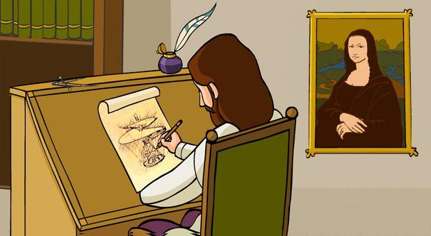 Léonard de Vinci expliqué aux enfants - 1jour1actu -