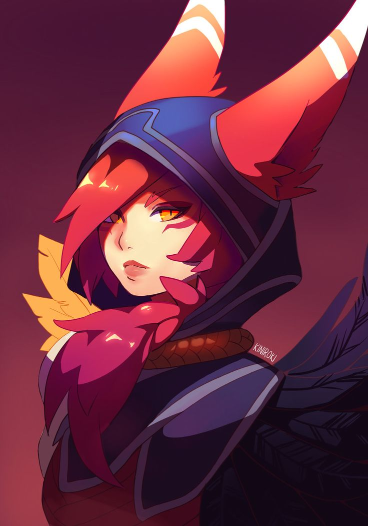 Xayah - The Rebel by Kiniroki