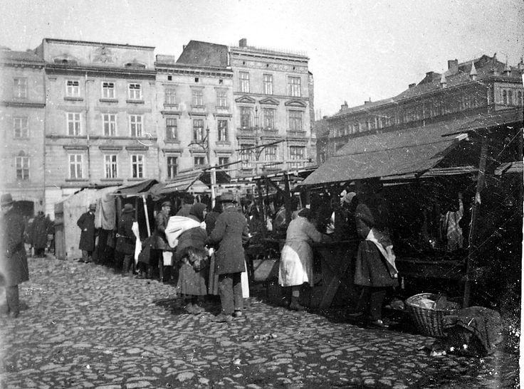 Rynek Linia A-B, Kraków - 1931 rok, stare zdjęcia