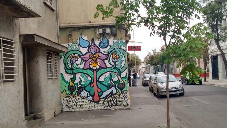 Street art chile yungay town santiago/arte callejero barrio yungay chile