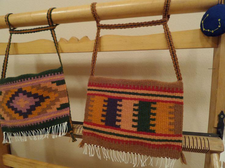 Gyapjú tarisznyák, székely technikával, motívumokkal szőve. - Wool bags - www.zentaianna.hu