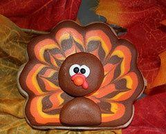 Turkey Thanksgiving sugar cookie.